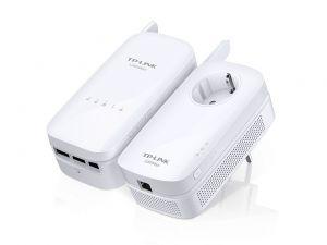 TP-LINK - AV1200 Gigabit PowerLine ac Wi-Fi KIT 1200Mbps PowerLine Data Rate