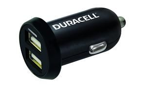 DURACELL - Duracell 1A+2.4A Dual USB In-Car Charger Black