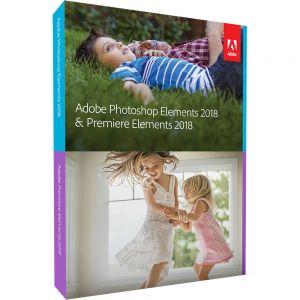 ADOBE - Photoshop Elements 2018 & Premiere Elements 2018 - Licença - 1 utilizador - comercial, Consignação, indirecto - Download - ESD - Win, Mac - International English