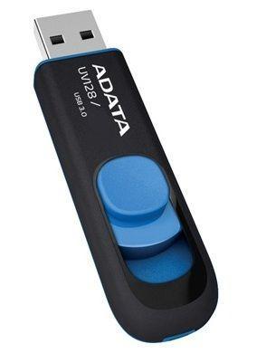 ADATA - DashDrive UV128 Drive flash USB 16 GB USB 3.0 preto/azul - AUV128-16G-RBE