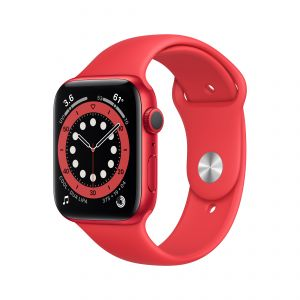 APPLE - Watch Series 6 GPS 44mm PRODUCT(RED) com Bracelete Desportiva PRODUCT(RED) - Regular