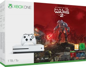 Microsoft Xbox One S + Halo Wars 2: Ultimate 1000GB Wi-Fi Branco
