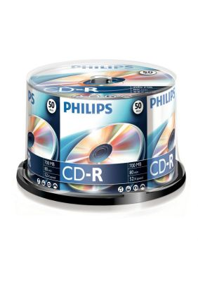 PHILIPS - CD-R 80Min 700MB 52x Cakebox (50 unidades)