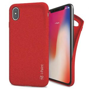 I-PAINT - SAND CASE IPHONE X (RED)