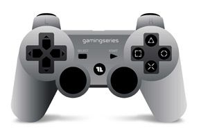 1LIFE - gp:player silver gaming controller PC + PS3