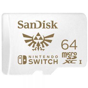 SANDISK - Nintendo Switch - Cartão de memória flash - 64 GB - UHS-I U3 - microSDXC UHS-I - para Nintendo Switch