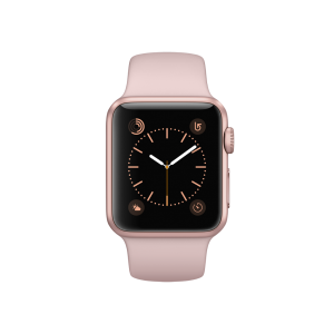 APPLE - Watch Series 1: 38mm Rose Gold Aluminium Case with Pink Sand Sport Band