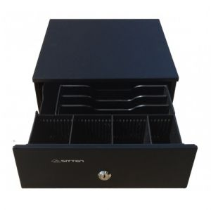 SITTEN - HS-240B - Mini gaveta horizontal metálica 24:5x32x10:5cm: RJ11: preta: 3N/4M: c/ chave