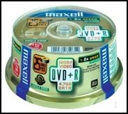 MAXELL - DVD + R 47 Spindle 50S 16X 275640.40.CN