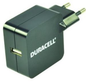 DURACELL - Single USB 2.4A 220V EU Charger Black (excl. cable)