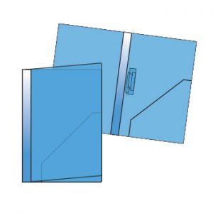 ROMA - Classificador Plastico A4 mola triplex Roma 147 Azul 1un