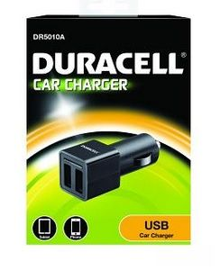 DURACELL - 12V Twin USB 2.4A Car Charger (excl. cable)