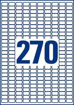 AVERY - ETIQUETAS AMOVIVEIS L4730REV (270X)