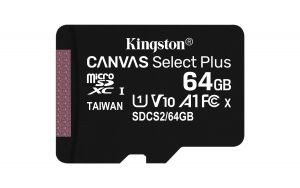 KINGSTON - SD 64GB MICRO SDXC 100R A1 C10 CARD C/ADAPTADOR