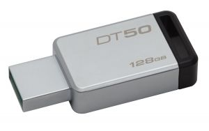 KINGSTON - DataTraveler 50 128gb USB 3.0 Metal/Black