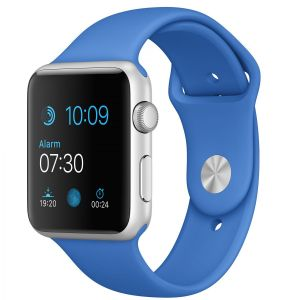 APPLE - 42mm Silver Aluminium Case with Royal Blue Sport Band