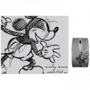 DISNEY - MOUSE OPTICO+MOUSE PAD SILVER - MICKEY