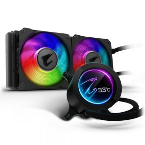 GIGABYTE - Cooler CPU a ?a AORUS 240 Display RGB