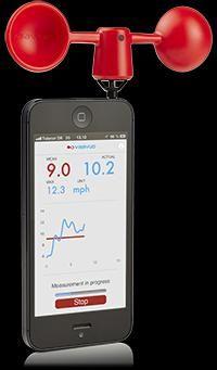 VAAVUD - Smartphone Wind Meter (red)