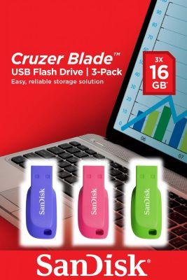 SANDISK - Cruzer Blade USB Flash Drive 3pack 16GB