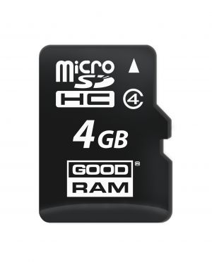 GOODRAM - 4GB microSDHC class 4 + adapter