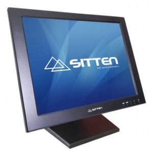 SITTEN - MT-1501 - Monitor TFT 15de Touch: 5-Wire resistive Touchscreen. Totalmente dobrável na horizontal: USB