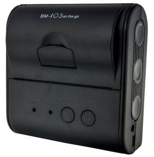 BIRCH - Impressora térmica 80mm portátil, BT 4.0, USB e RS232, Velocidade de Impressão 50mm/s Resolução 203DPI, Compativel ESC/POS  Suporta iOS, Windows, Android e Linux  Dimensões:108,5x105x48mm