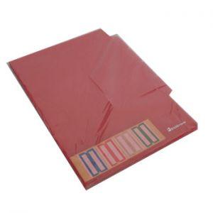 ERICHKRAUSE - Dossier Plastico com 4 Separadores Transparentes - Vermelho Pack 10un
