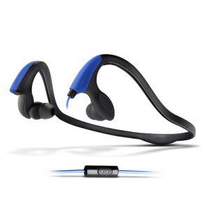 ENERGY SYSTEM - Energy Earphones Running Two - Desporto - auscultadores intra-aurais com microfonoe - intra-auricular - montagem por debaixo do pescoço - 3.5 mm jack - azul néon