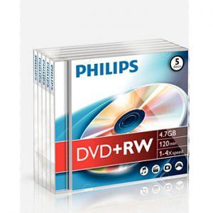 PHILIPS - DVD+RW Philips 4.7GB 4X Jewell Case 5