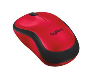 LOGITECH - MOUSE WIRELESS M220 SILENT RED