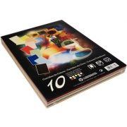 OFFICE - Cartolina 180gr 100 folhas A4 (10 Cores) (37332)-Amarelo:Azul:Branco:Azul Celeste: Creme:Preto:Vermelho:Rosa:Salmao:Verde Abeto