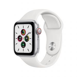 APPLE - Watch SE GPS + Cellular 40mm em Aluminio Prateado com Bracelete Desportiva Branca