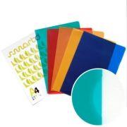 SMARTD - Bolsa Plastico em L A4 Translucido (90microns) Vermelho 1uni (min. 100 un.)