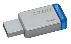KINGSTON - DataTraveler 50 64gb USB 3.0 Metal/Blue