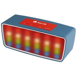 NGS - 3W Bluetooth - TF CARD SLOT- USB Port - FM Radio LED Lights - Azul