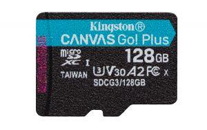 KINGSTON - CARTÃO DE MEMÓRIA MICROSDXC 128GB CANVAS GO PLUS 170MB/S A2 U3 V30