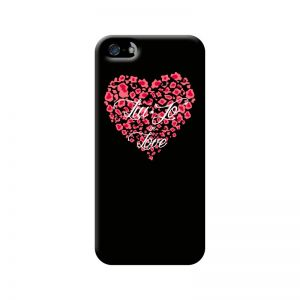 LIU.JO - Hard Case iPhone 5/5S (heart black)