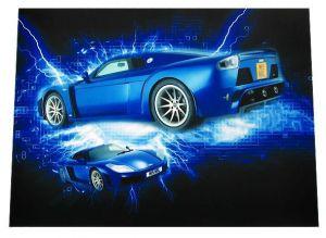 HITEC - Película em vinil adesivo para portáteis 10–17Pol Carro Desportivo azul