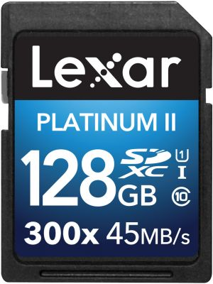 LEXAR - 128GB SDXC 300X Platinum II (Class 10) U1