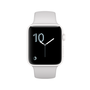 APPLE - Watch Edition: 42mm White Ceramic Case with Cloud Sport Band