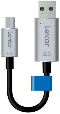 LEXAR - USB 3.0 C20m 32GB - cabosync+armazenamento-microUSB