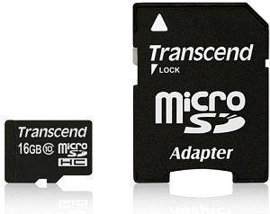 TRANSCEND - 16GB MICROSDHC CLASS10 - TS16GUSDU1