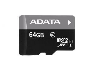 ADATA - Premier CartAo (adaptador microSDXC para SD Incluido) 64 GB UHS Class 1 / Class10 microSDXC UHS-I