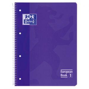 OXFORD - Caderno Espiral Oxford European Book: Capa Extra Dura Cartao: A4 Pautado: 90gr: 80 Folhas: Lilas (min. 5 un.)