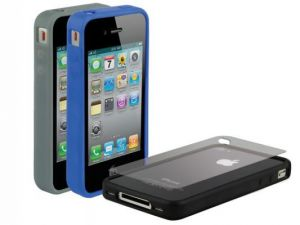 SCOSCHE - Bandit G4 3 Pack Rubber Edge Cases For Iphone 4 - IP4E3DV
