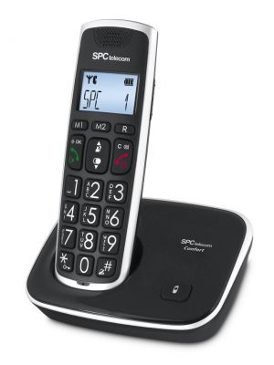 SPC - 7608N Telefone DECT COMFORT KAISER Preto