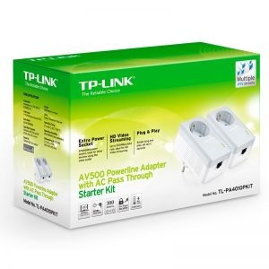 TP-LINK - KIT 3 ADAP PowerLine TP-LINK 500MBPS RJ45 C/PASS-THROUGH