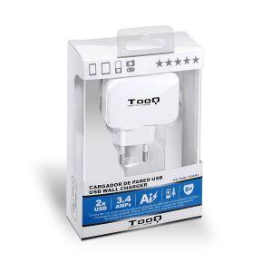 TOOQ - CARREGADOR PAREDEE USB TQWC-1S02WT 2xUSB 3.4 A(TOTAL) AI-TECH BRANCO