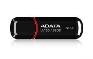 ADATA - DashDrive UV150 Drive flash USB 32 GB USB 3.0 preto - AUV150-32G-RBK